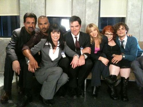 Paget with the CM cast, 2010