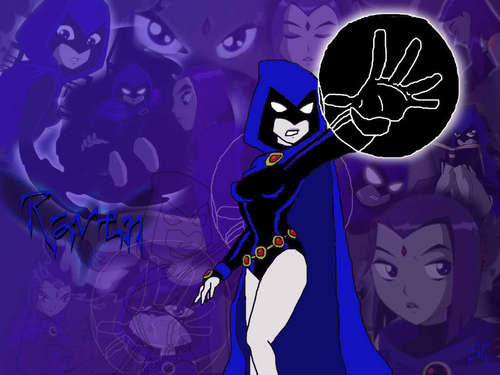 Teen Titans achtergrond entitled Raven