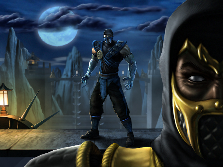mortal kombat 9 scorpion vs sub zero wallpaper. Scorpion vs Sub Zero