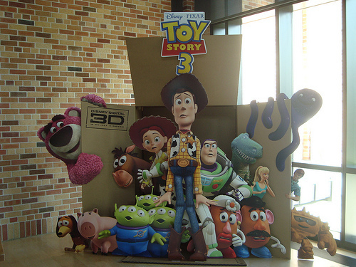 Toy Story 3 Cutout in Pixar's Main Lobby