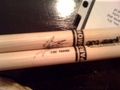 Zac's Drum Sticks - paramore photo