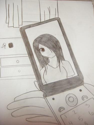 Anime images anime girl on phone hd wallpaper and - Anime girl on phone ...