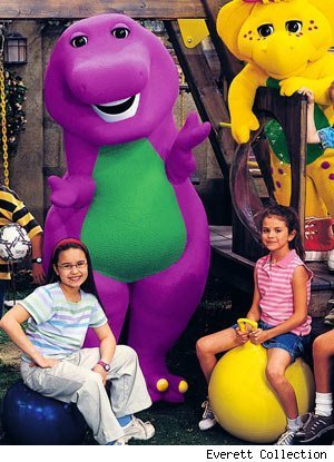 selena gomez and demi lovato on barney and friends. demi lovato selena gomez