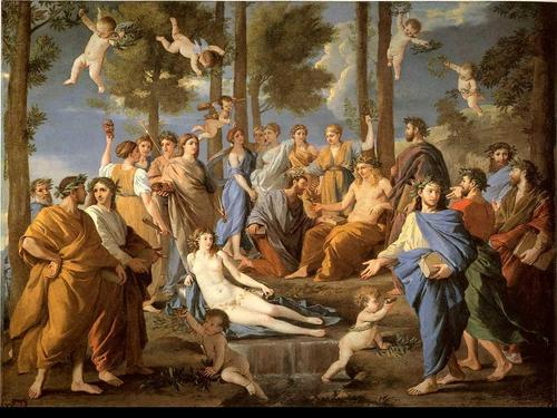 Griechische Mythologie Hintergrund entitled Apollo and Muses