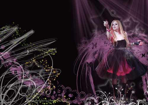 Avril Lavigne BLACK bintang wallpaper