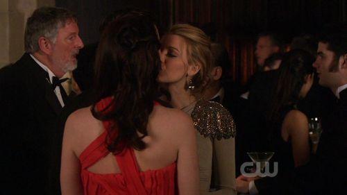 BS kissing.