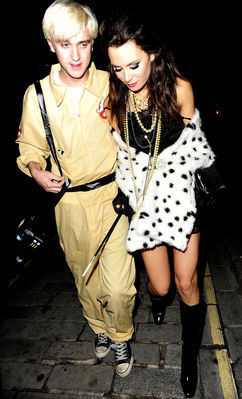Candids > Leaving halloween Party