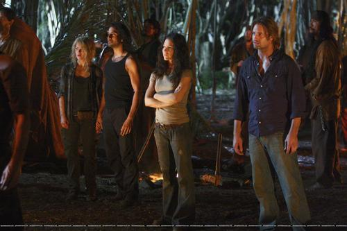 Claire,Sayid,Kate and Sawyer