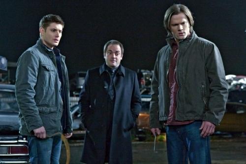 Dean, Sam, and Crowley
