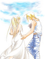 Flirt - edward-elric-and-winry-rockbell fan art