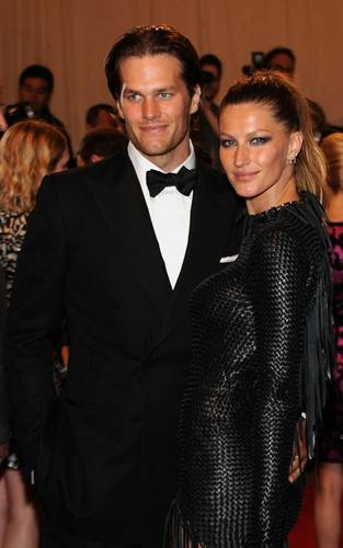 Gisele Bundchen and Tom Brady at the MET Ball (May 3)