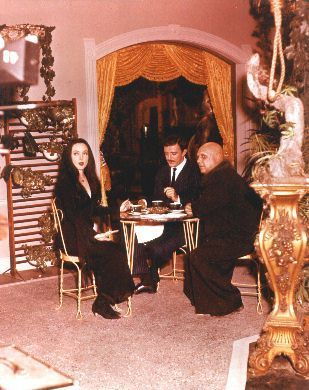 Gomez, Fester, and Morticia