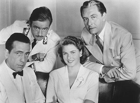 Humphrey Bogart, Claude Rains, Paul Henreid and Ingrid Bergman