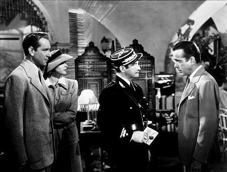 Humphrey Bogart, Claude Rains, Paul Henreid and Ingrid Bergman