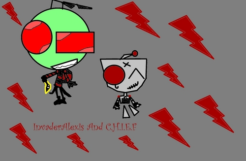 INvaderAlexis And His S.I.R C.H.I.E.F - invader-zim-fancharacters Fan Art
