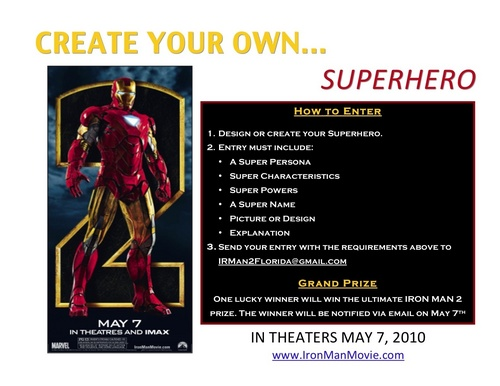 IRON MAN 2 SUPERHERO CONTEST