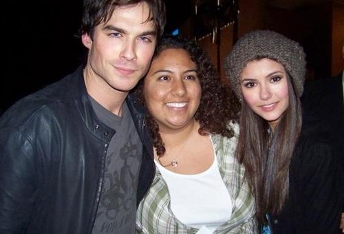 Ian & Nina with 팬