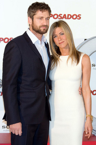 Jennifer Aniston and Gerard Butler in Spain