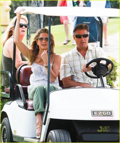"Jennifer on set ""Just Go With It"""