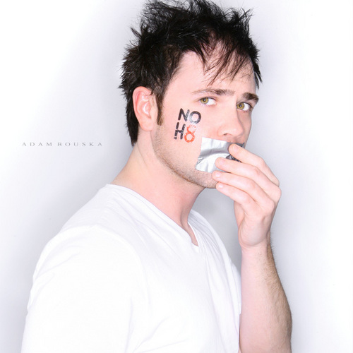 Jesse Poses for the NOH8 Campaign