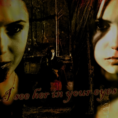 Katherine Pierce and Elena Gilbert wallpaper called K/D/E