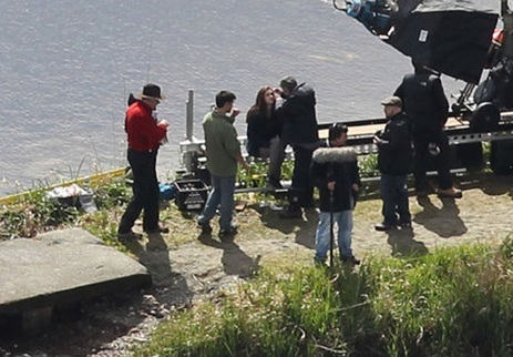 Kristen and Taylor re-shoot Eclipse scenes