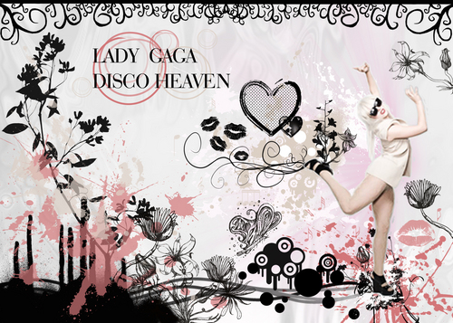Lady GaGa DISCO HEAVEN 壁紙