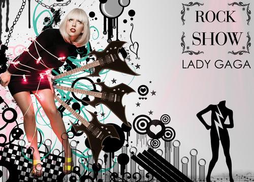 Lady GaGa ROCK onyesha karatasi la kupamba ukuta