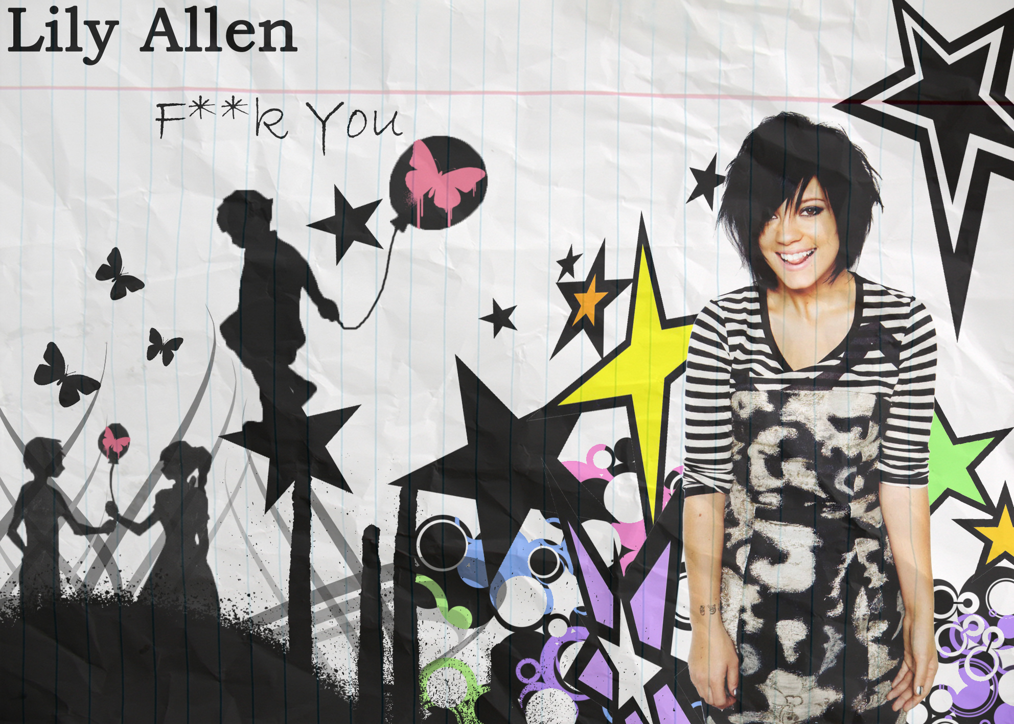 Lily Allen FUCK YOU Wallpaper
