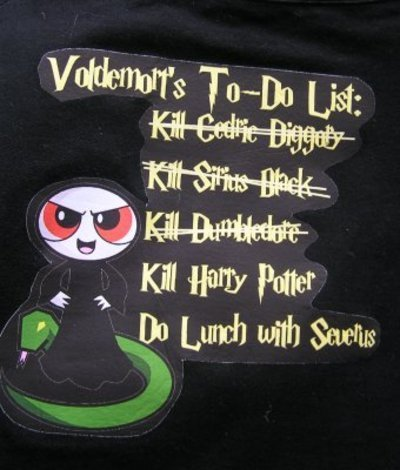 Lol, this made me laugh. Voldemort to 'kill' list.
