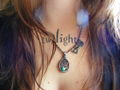 My Twilight tattoo and my Jacob necklace <333