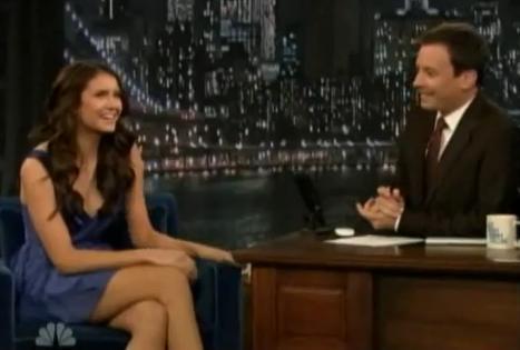 Nina Dobrev on The Late mostrar with Jimmy Felton May 5