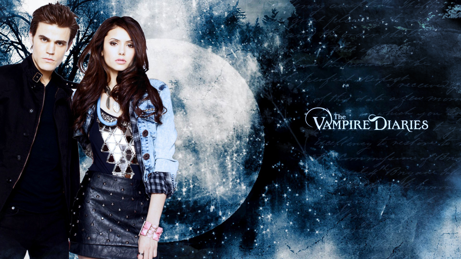 Paul&Nina - Paul Wesley and Nina Dobrev Wallpaper ...