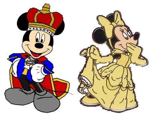 Prince Mickey and Princess Minnie - Beauty and the Beast