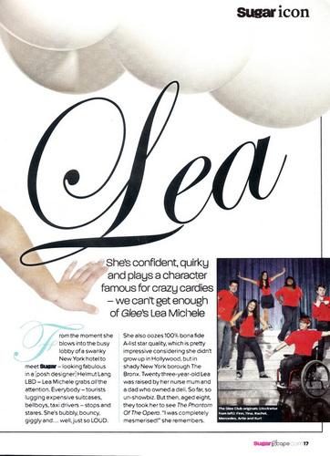 Scans of Lea in June 2010 Sugar Magazine