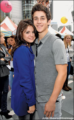 Selena with David Henrie