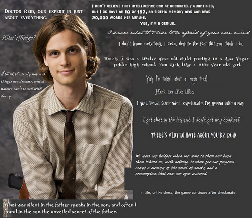 Esprits Criminels fond d'écran entitled Spencer Reid citations