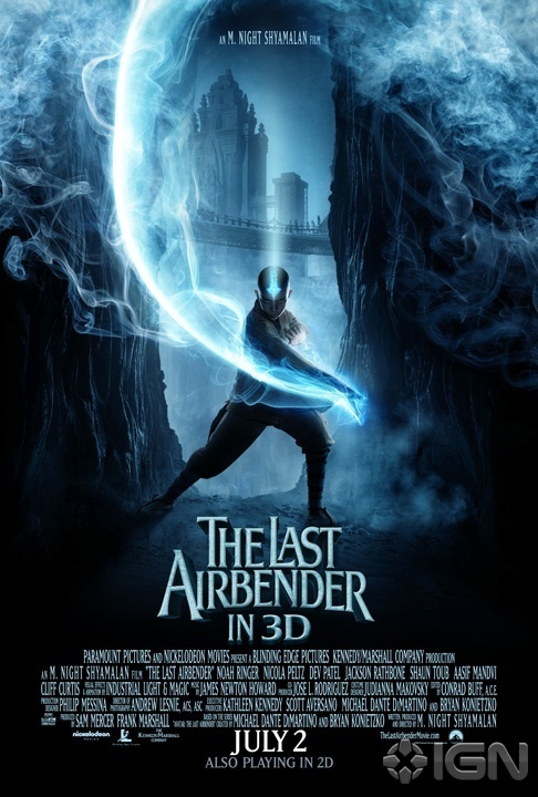 The Last Airbender Movie Poster - Avatar: The Last Airbender 486x720