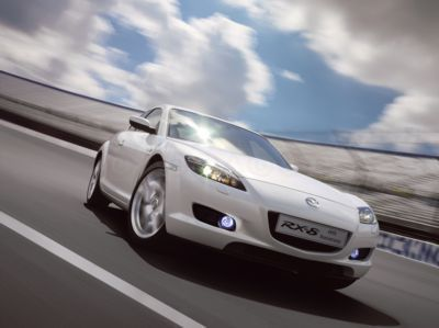White Mazda RX-8 - mazda Photo