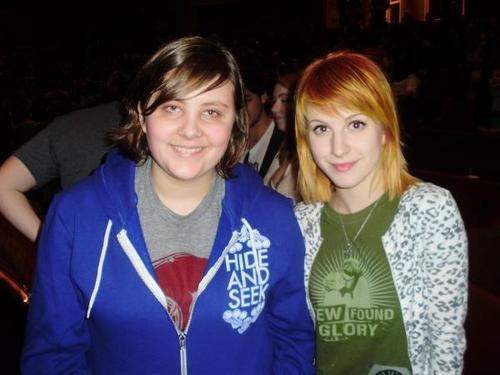 hayley and a fan