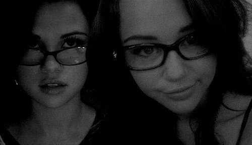 miley and sel glasses