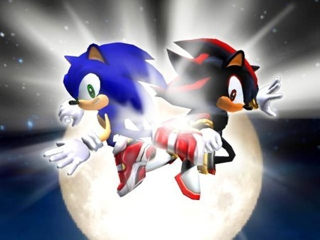 the fight bewteen shadow and sonic
