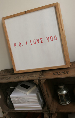 Главная Decorating Обои called 'P.S. I Любовь You' Limited Edition Art Print by Coulson Macleod