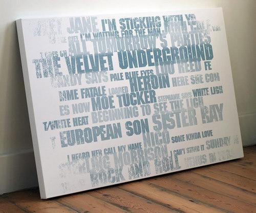 'The Velvet Underground' Limited Edition Art Print sejak Coulson Macleod