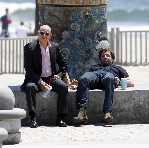 07/05/2010 - David and Evan filming Cali at Venice spiaggia [HQ]