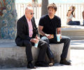 07/05/2010 - David and Evan filming Cali at venice Beach - californication photo