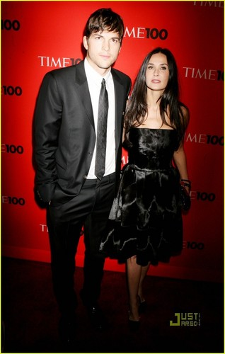 Ashton Kutcher: TIME 100 Gala with Demi Moore!