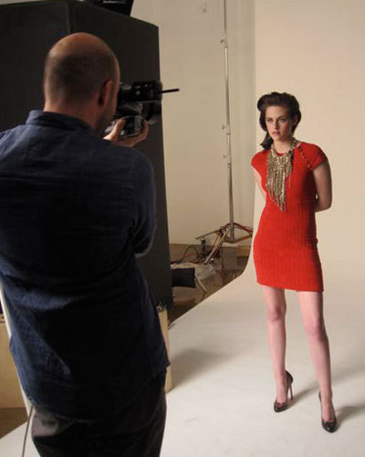 Behind the Scenes @ Kristen's Elle Shoot