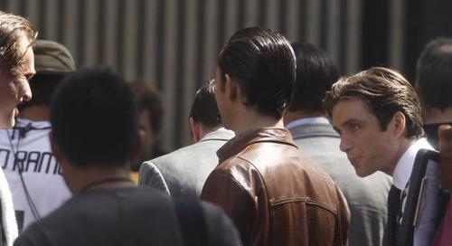 Cillian Murphy on set - Inception