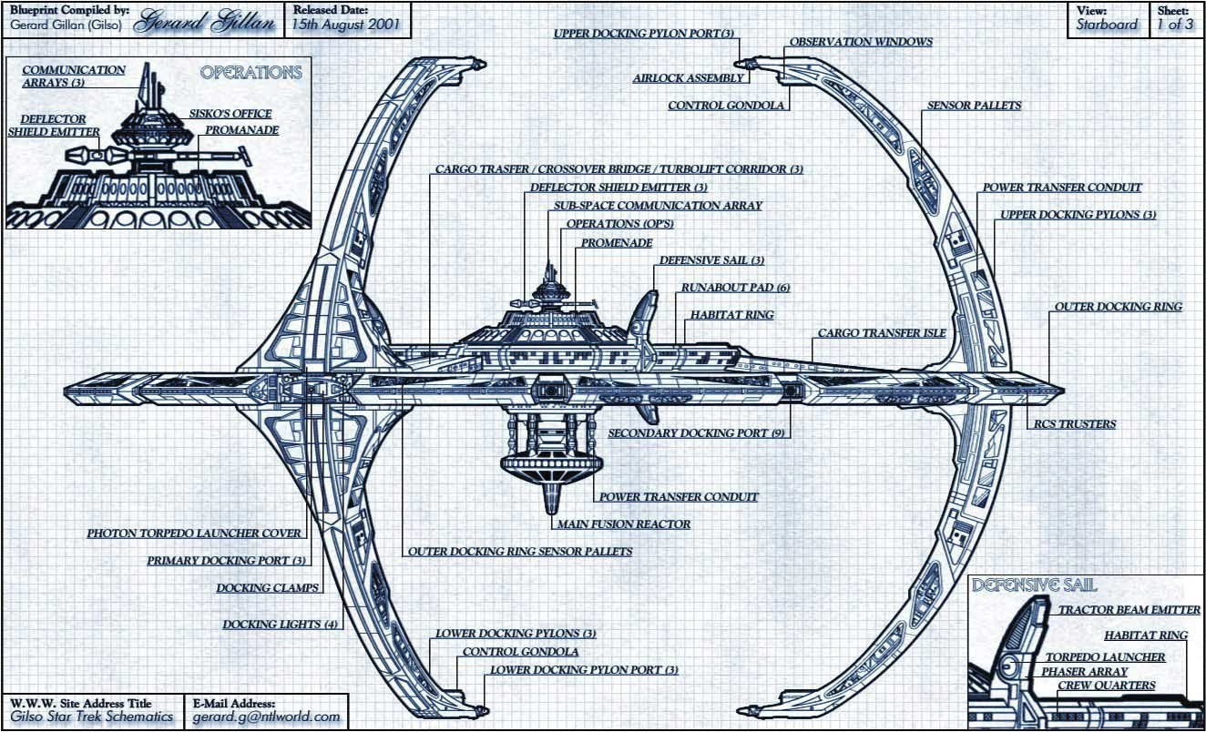 Star Trek Deep Space Nine Images Ds9 Blueprint Hd